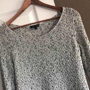 Black & White woven The Limited 3/4 length sweater